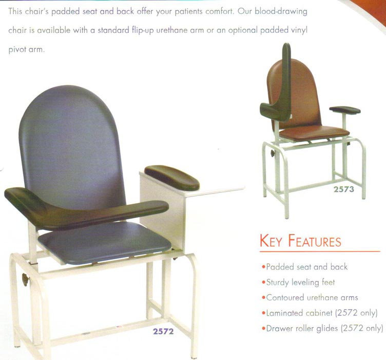 blood drawing chair  sc 1 st  Great Lakes Surgical Inc. & Brewer Exam Tables u0026 Hamilton Exam Tables WINCO Blood Draw Chair ...